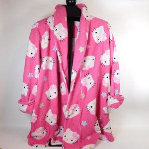 Hello Kitty Women's Pink Bathrobe OS CL1930 1019